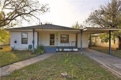 Abilene Single Family Home For Sale: 1466 Graham Street