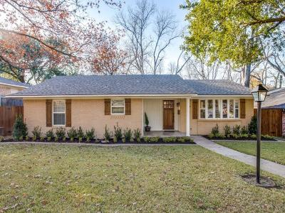 Dallas Single Family Home For Sale: 9814 Lanshire Drive