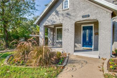 Fort Worth Single Family Home For Sale: 1816 Frederick Street