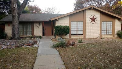 Lewisville Single Family Home Active Option Contract: 1481 Evergreen Drive