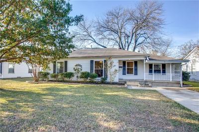Dallas Single Family Home Active Option Contract: 1321 Casa Vale Drive