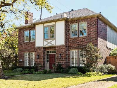 Highland Park, University Park Single Family Home Active Option Contract: 2901 Westminster Avenue