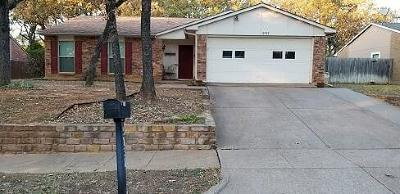Bedford Single Family Home Active Option Contract: 3737 Hackberry Lane