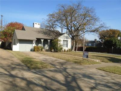 Dallas Single Family Home Active Option Contract: 801 Thomasson Drive