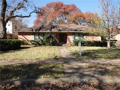 Dallas Single Family Home Active Option Contract: 10433 Coleridge Street