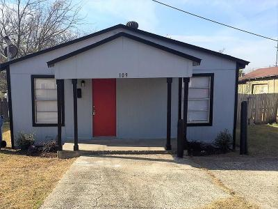 Garland Single Family Home Active Option Contract: 109 Roosevelt Street