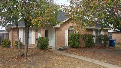 Seagoville Single Family Home Active Option Contract: 1215 Riverview Lane