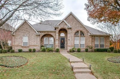 Plano Single Family Home Active Option Contract: 7705 Cap Rock Drive