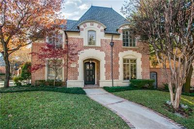 Dallas Single Family Home For Sale: 5660 Prestwick Lane