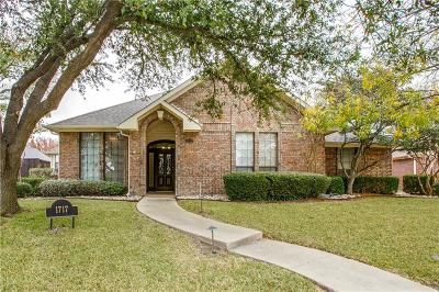 Plano Single Family Home Active Option Contract: 1717 Sacramento Terrace