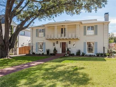 University Park Single Family Home For Sale: 3525 Wentwood Drive