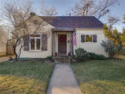 Fort Worth Single Family Home For Sale: 5313 Pershing Avenue
