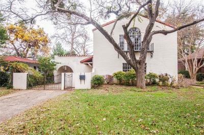 Dallas Single Family Home For Sale: 1846 Mayflower Drive