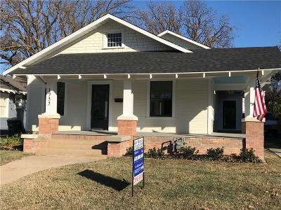 Fort Worth Single Family Home For Sale: 1933 Fairmount Avenue