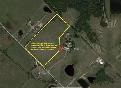 Rockwall, Royse City, Fate, Heath, Mclendon Chisholm Residential Lots & Land Active Option Contract: 1221-B McDonald Road