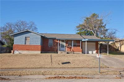 White Settlement Single Family Home Active Option Contract: 1512 Mary K Lane