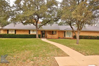 Abilene Single Family Home For Sale: 726 Green Valley
