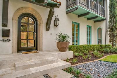 Highland Park, University Park Single Family Home For Sale: 4530 Fairway Street