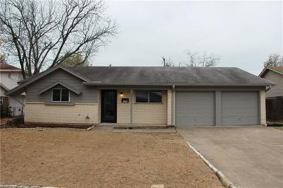 Irving Single Family Home Active Option Contract: 3206 Griffiths Drive