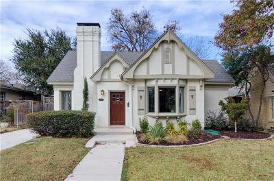 Dallas Single Family Home For Sale: 5907 Mercedes Avenue
