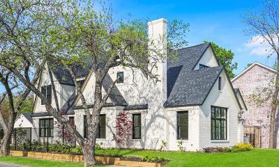 Dallas TX Single Family Home For Sale: $1,198,000