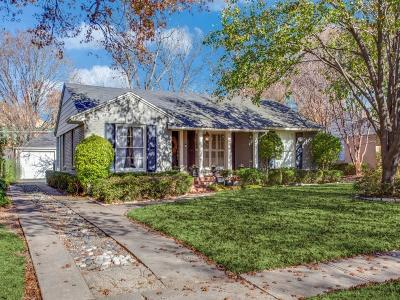 Dallas Single Family Home For Sale: 5639 W Amherst Avenue