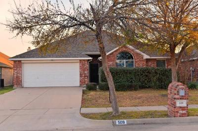 Saginaw Single Family Home Active Option Contract: 509 Greenvale Court