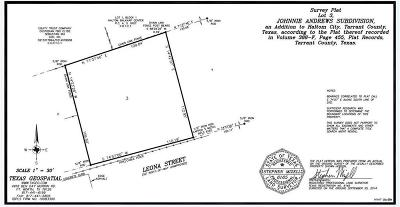 Tarrant County Residential Lots & Land For Sale: 4505 Leona Lane