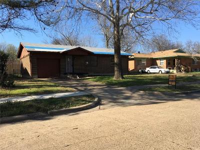 Mesquite Single Family Home For Sale: 1605 Belmont Street