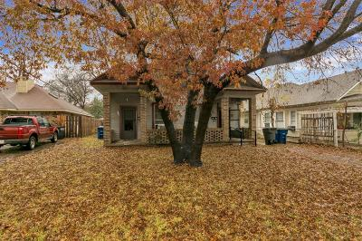Dallas Single Family Home For Sale: 4625 Sycamore Street