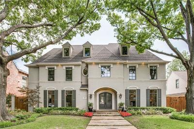 Dallas, Highland Park, University Park Single Family Home For Sale: 3113 Greenbrier Drive