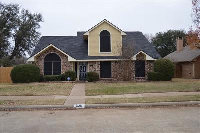 Cedar Hill Single Family Home Active Option Contract: 426 L Thompson Street