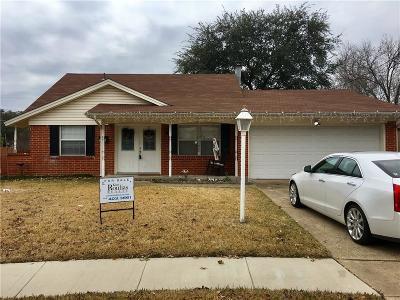 Garland Single Family Home Active Option Contract: 3505 McDonald Circle