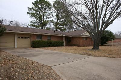 Mineral Wells TX Single Family Home Active Contingent: $121,000