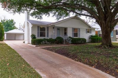 Fort Worth Single Family Home Active Option Contract: 3525 Hilltop Road