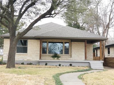 Dallas Single Family Home For Sale: 1902 Newport Avenue