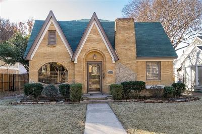 Dallas Single Family Home Active Option Contract: 5730 Ellsworth Avenue