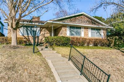 Dallas Single Family Home Active Option Contract: 8921 Stanwood Drive