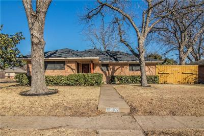 Garland Single Family Home Active Option Contract: 1802 Patricia Lane