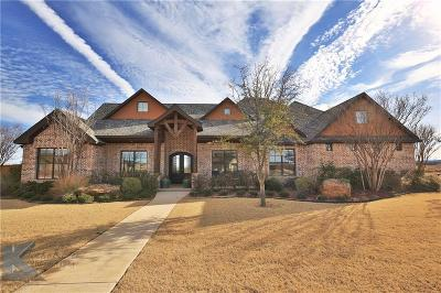 Abilene Single Family Home Active Kick Out: 249 Rising Star Drive