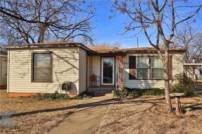 Abilene Single Family Home For Sale: 1450 Park Avenue