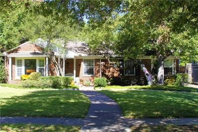 Highland Park, University Park Single Family Home For Sale: 3944 Wentwood Drive