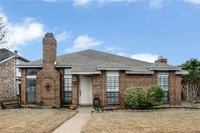 Plano Single Family Home Active Option Contract: 1612 Toddville Circle