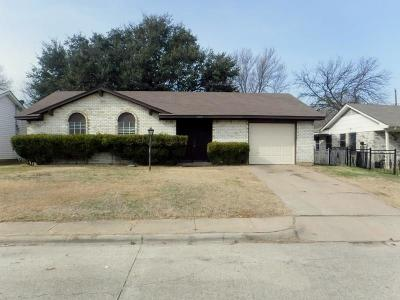 Grand Prairie Single Family Home Active Option Contract: 2437 Miller Street