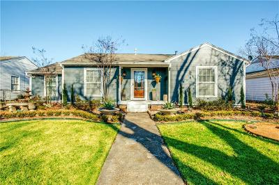 Dallas Single Family Home Active Option Contract: 1254 Fuller Drive