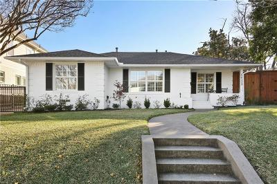 Dallas Single Family Home Active Option Contract: 6612 Winton Street