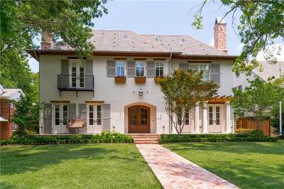 Highland Park, University Park Single Family Home For Sale: 3224 Hanover