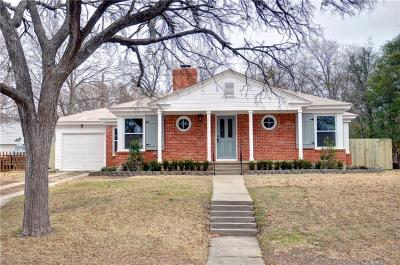 Fort Worth Single Family Home For Sale: 3213 Edgehill Road