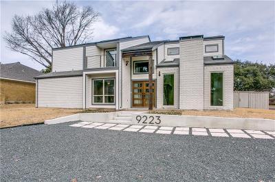 Dallas Single Family Home Active Option Contract: 9223 Alta Oaks Drive