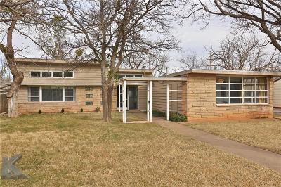 Abilene Single Family Home For Sale: 4074 Potomac Avenue